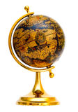 Old-style globe. Old style globe isolated on white background Royalty Free Stock Photos
