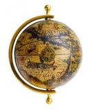 Old-style globe. Old style globe isolated on white background Royalty Free Stock Photography