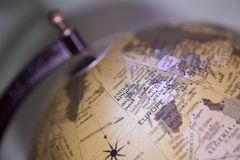 Old style globe. Painted with light Royalty Free Stock Image
