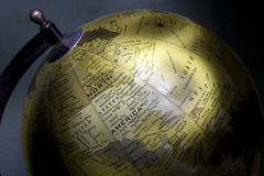 Old style globe. Painted with light Royalty Free Stock Photos