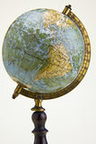 Old style globe. Old world globe isolated on white Royalty Free Stock Photos