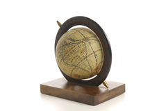 Old style globe. Isolated on white background with clipping path Stock Images
