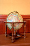 Old style globe. With compass showing African continent Royalty Free Stock Photos