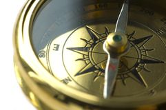 Old style gold compass Stock Photo