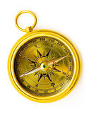 Old style gold compass Stock Image