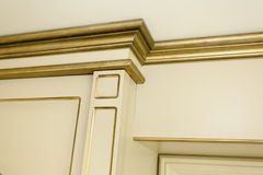 Old style golden detail in a villa house Royalty Free Stock Photography