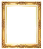 Old style goldern wood frame. Blank for picture Stock Photography