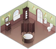Old Style Green Bathroom Royalty Free Stock Images