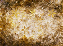 Old style grunge floral background with copy space Stock Photography