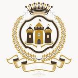 Old style heraldry, heraldic emblem, vector illustration. Royalty Free Stock Photography