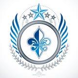 Old style heraldry, heraldic emblem, vector illustration. Stock Photos