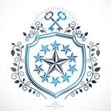 Old style heraldry, heraldic emblem, vector illustration. Royalty Free Stock Photo