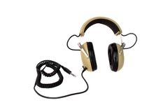 Old style hi fi headphones Stock Photo