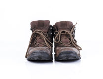 Old style hiking or adventure shoe Royalty Free Stock Photography