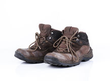 Old style hiking or adventure shoe isolated Royalty Free Stock Image