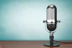 Old Style hoto. Retro Microphone Stock Photos