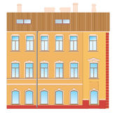 Old style house. The building is an old architectural style Stock Illustration