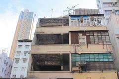 Old style house tong lau at sai kung hong kong Royalty Free Stock Photo