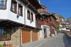 Old style house Veliko Turnovo stock photos