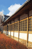 The old-style houses of a folk village in South Korea Royalty Free Stock Photos