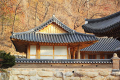 The old-style houses of a folk village in South Korea royalty free stock images