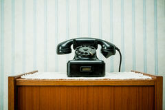 Old-style image of a vintage telephone Stock Photo