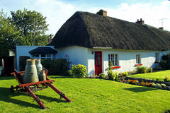 Old Style Irish Cottage Adare Co. Limerick. On a sunny summers day Royalty Free Stock Photos