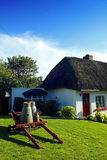 Old Style Irish Cottage Adare Co. Limerick Stock Photos