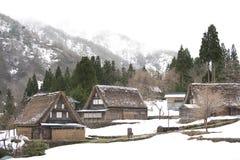 Old-style Japanese dwellings Stock Image