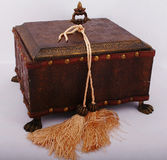 Old style jewellery box. And fringe Royalty Free Stock Photography