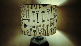 Old Style Key Lamp. Shade stock photography