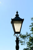 Lamppost with cobwebs Stock Images