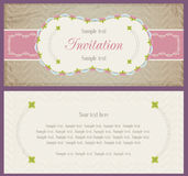 Old style landscape design for invitation card Stock Photos