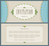 Old style landscape design for invitation card Stock Photo