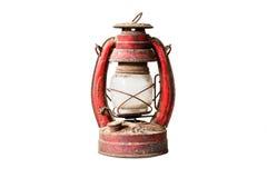 Old style lantern isolated on white background. Royalty Free Stock Photo