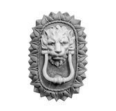 Old style lion`s head knocker isolated. royalty free stock photography