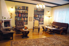 Old style living room. With two big bookstands Stock Images
