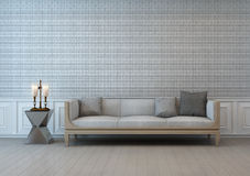 Old style living room with textile wall Royalty Free Stock Image
