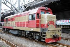 Old Style Locomotive. An old style locomotive in Beijing,China Stock Photo