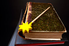 Old style Magic Book. For the Wizzard stock photography