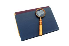 Old style magnifying glass isolated Stock Photography