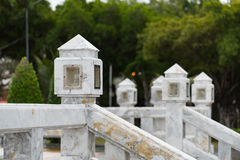 Old style marble lantern. White marble lamp for outdoor, Koh Phangan, Thailand Royalty Free Stock Photography