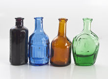Old style medicine bottles Royalty Free Stock Photography
