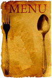 Old style menu. Old style vintage menu with spoon and fork Royalty Free Stock Image