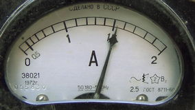 Old style micro ammeter stock video footage