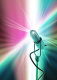 Old style microphone template. Template with old style microphone Royalty Free Stock Photo
