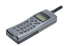 Old style mobile phone. Cellphone handset on white background royalty free stock photography