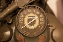Old style of motorcycle speedometer Royalty Free Stock Image