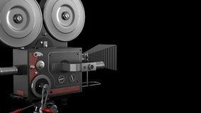 Old style movie camera stock video