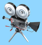 Old style movie camera ,  Stock Images